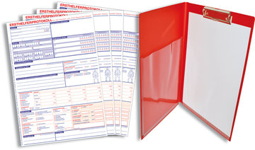 EH-SPARSET:  100x Ersthelfer-Protokoll + Schreibmappe